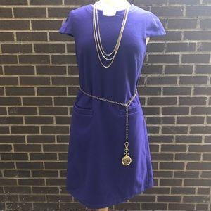 United Colors Of Benetton Wool Sheath Dress Sz M